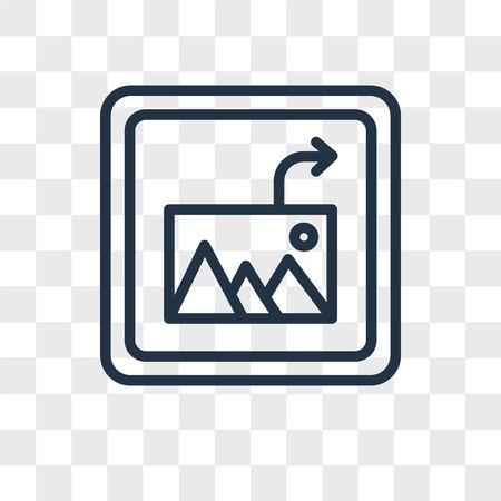 Icône de vecteur d'image d'insertion isolé sur fond transparent, concept de logo d'insertion d'image
