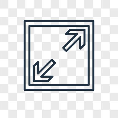 Vollbild-Vektorsymbol lokalisiert auf transparentem Hintergrund, Vollbild-Logo-Konzept
