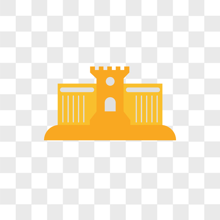 Sand castle vector icon isolated on transparent background, Sand castle logo concept Illustration