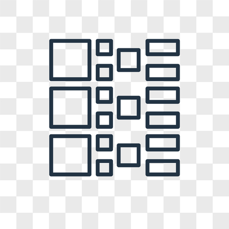 Thumbnails vector icon isolated on transparent background, Thumbnails logo concept Illustration