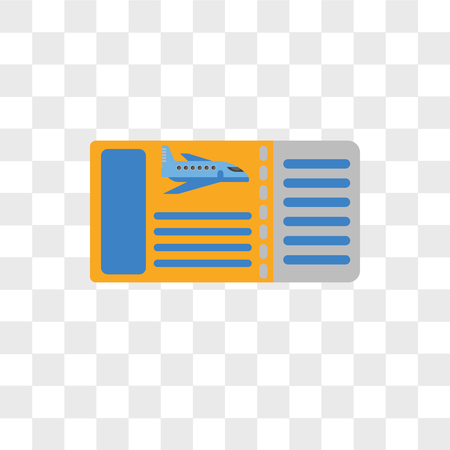 Boarding pass vector icon isolated on transparent background, Boarding pass logo concept