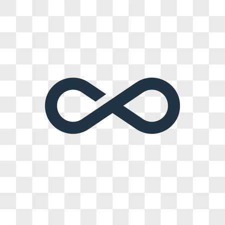 Infinity vector icon isolated on transparent background, Infinity logo concept