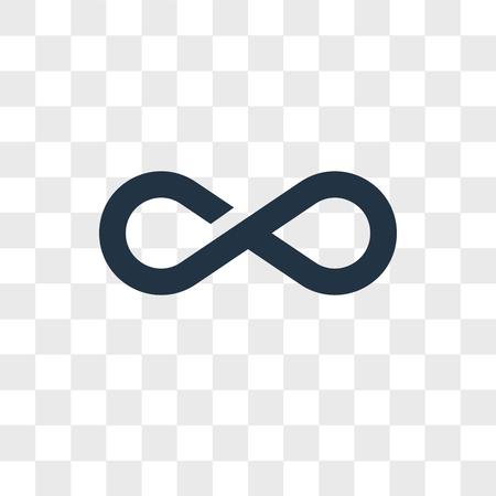 Icono de vector de infinito aislado sobre fondo transparente, concepto de logo de infinito
