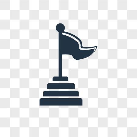 Pyramid vector icon isolated on transparent background, Pyramid logo concept Ilustração