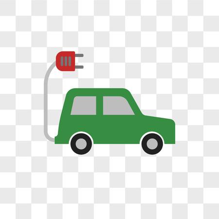 Icône de vecteur de voiture électrique isolé sur fond transparent, concept de logo de voiture électrique Logo