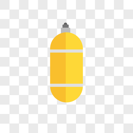 Oxygen tank vector icon isolated on transparent background, Oxygen tank logo concept Stock Vector - 108100810