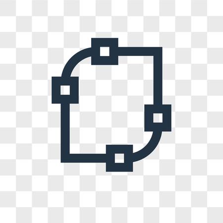 Icône de vecteur de nœuds isolé sur fond transparent, concept logo nœuds