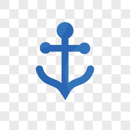 Anchor vector icon isolated on transparent background, Anchor logo concept