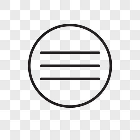 Menu vector icon isolated on transparent background, Menu logo concept Logo