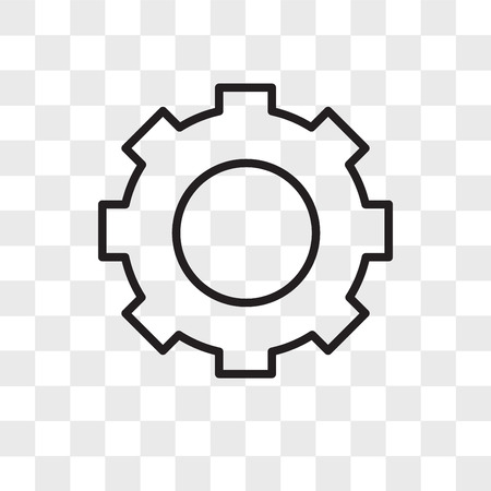 Gear vector icon isolated on transparent background, Gear logo concept
