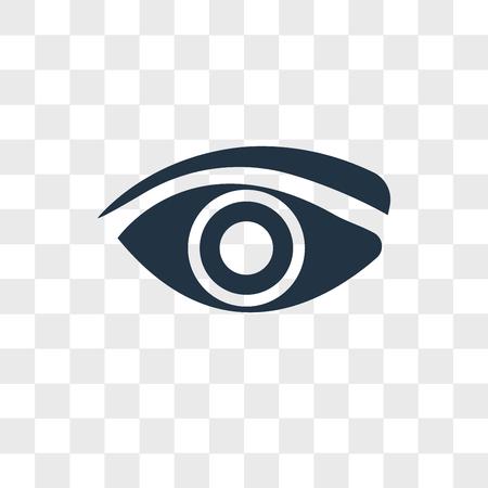 Icona di vettore dell'occhio isolato su sfondo trasparente, concetto di marchio dell'occhio