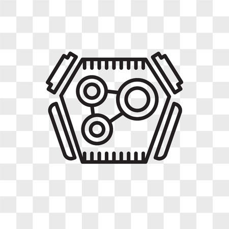 Engine vector icon isolated on transparent background, Engine logo concept