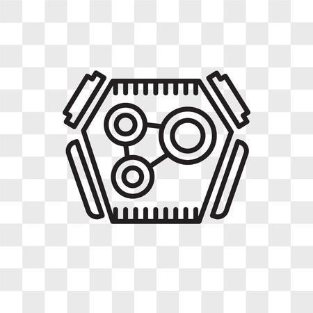 Motorvektorsymbol lokalisiert auf transparentem Hintergrund, Motorlogokonzept Logo