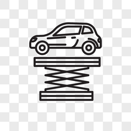 Icono de vector de suspensión aislado sobre fondo transparente, concepto de logo de suspensión