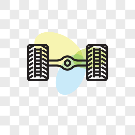 Wheel alignment vector icon isolated on transparent background, Wheel alignment logo concept