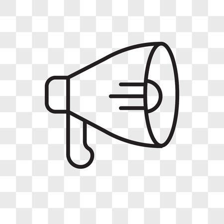 Speaker vector icon isolated on transparent background, Speaker logo concept
