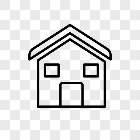 House vector icon isolated on transparent background, House logo concept 向量圖像