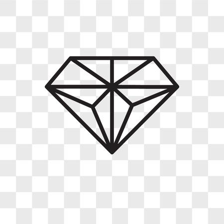 Icono de vector de diamante aislado sobre fondo transparente, concepto de logo de diamante