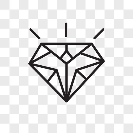 Diamond vector icon isolated on transparent background, Diamond logo concept Иллюстрация