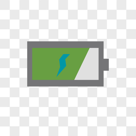 Battery vector icon isolated on transparent background, Battery logo concept 矢量图像