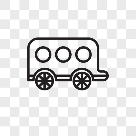 Carriage vector icon isolated on transparent background, Carriage logo concept