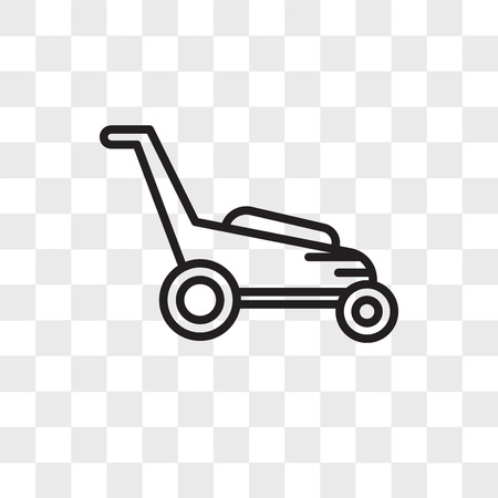 Lawnmower vector icon isolated on transparent background, Lawnmower logo concept 일러스트