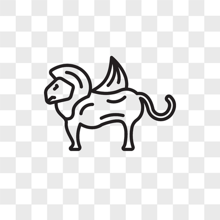 Chimera vector icon isolated on transparent background Vectores