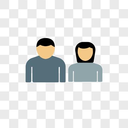 Icono de vector de familia aislado sobre fondo transparente, concepto de logo de familia