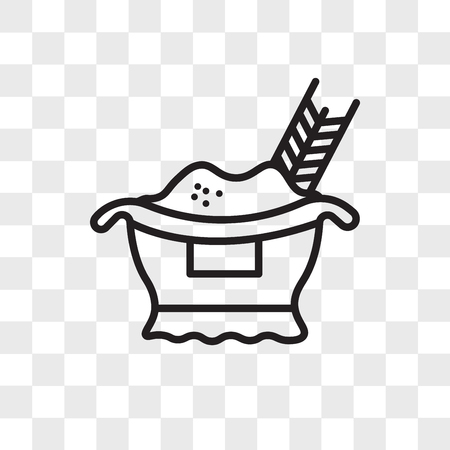 Rice vector icon isolated on transparent background, Rice logo concept Standard-Bild - 108188873