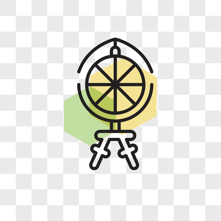Spinning wheel vector icon isolated on transparent background, Spinning wheel logo concept Illustration
