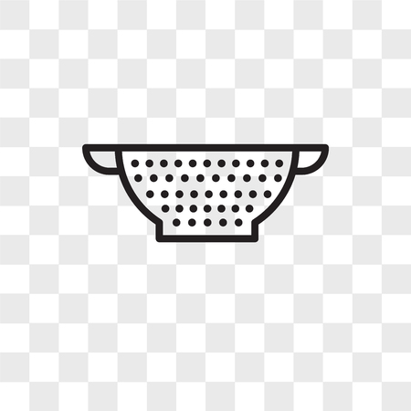 Strainer vector icon isolated on transparent background, Strainer logo concept