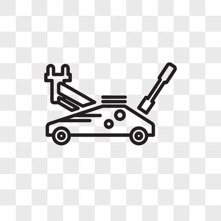 Hydraulic jack vector icon isolated on transparent background, Hydraulic jack logo concept