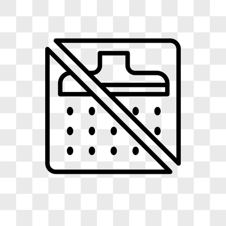 No shower vector icon isolated on transparent background, No shower logo concept