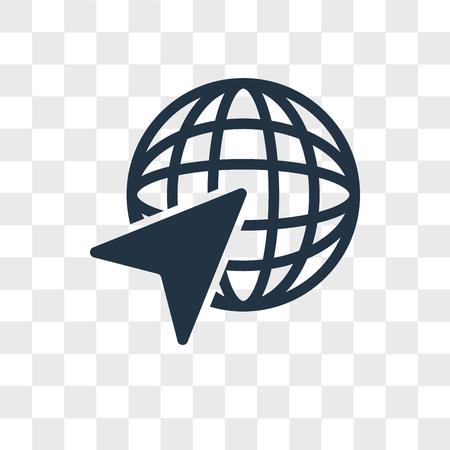 Internet vector icon isolated on transparent background, Internet logo concept Illustration