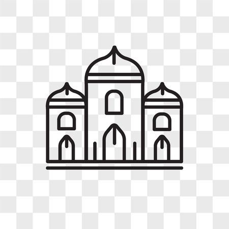 Palace vector icon isolated on transparent background, Palace logo concept Illustration
