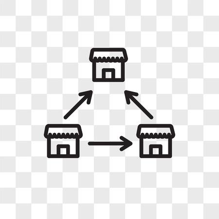 Franchise vector icon isolated on transparent background, Franchise logo concept Illustration