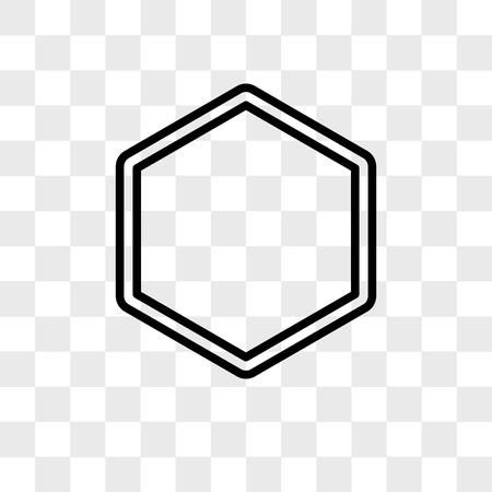 Hexagon vector icon isolated on transparent background, Hexagon logo concept