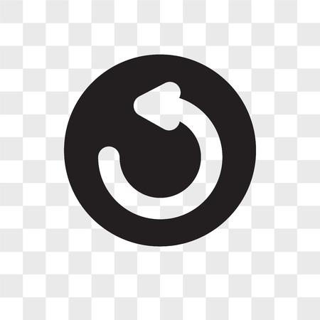 Icône de vecteur d'actualisation isolé sur fond transparent, concept de logo d'actualisation Logo