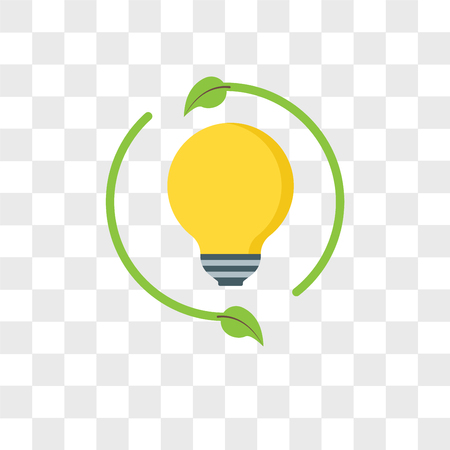 Renewable energy vector icon isolated on transparent background, Renewable energy logo concept Illustration