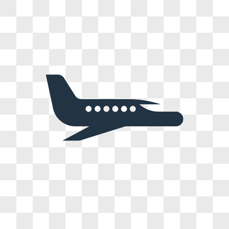 Airplane vector icon isolated on transparent background, Airplane logo concept