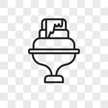 Wedding cake vector icon isolated on transparent background, Wedding cake logo concept