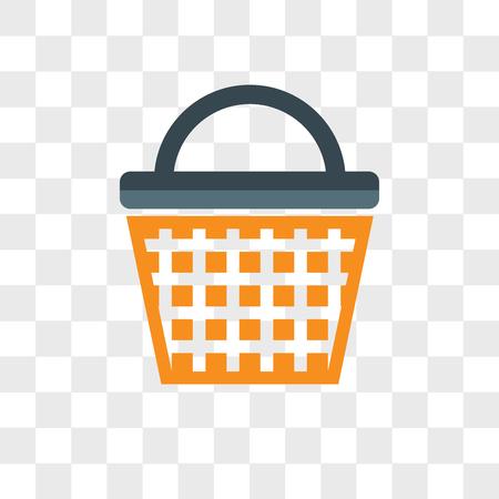 Shopping basket vector icon isolated on transparent background, Shopping basket logo concept Ilustrace