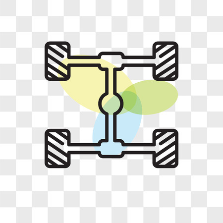 Chassis vector icon isolated on transparent background, Chassis logo concept