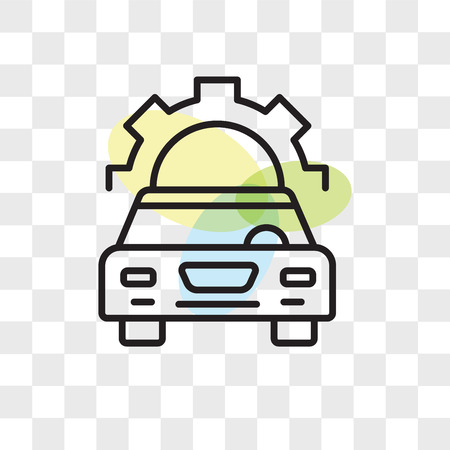 Car repair vector icon isolated on transparent background, Car repair logo concept