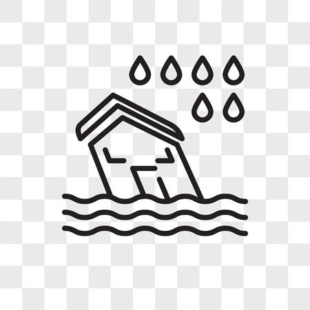 Flood vector icon isolated on transparent background, Flood logo concept Illusztráció