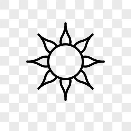 Icono de vector de sol aislado sobre fondo transparente, concepto de logo de sol