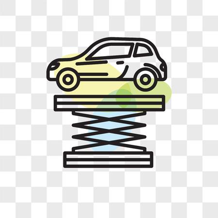 Icono de vector de suspensión aislado sobre fondo transparente, concepto de logo de suspensión Foto de archivo - 108262344