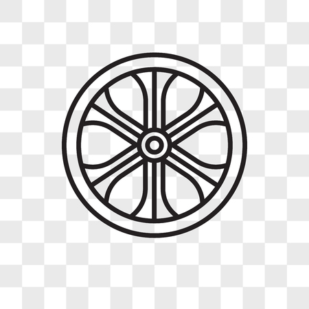 Alloy wheel vector icon isolated on transparent background, Alloy wheel logo concept Ilustração