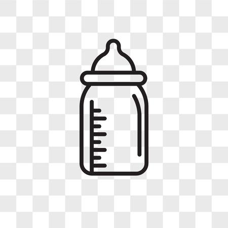 Feeding bottle vector icon isolated on transparent background, Feeding bottle logo concept