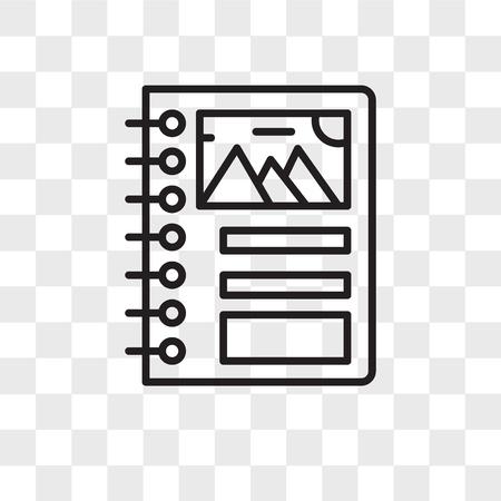 Icône de vecteur de reliure isolé sur fond transparent, concept de logo de reliure